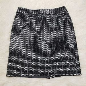 Ann Taylor Petite Tweed Straight Skirt